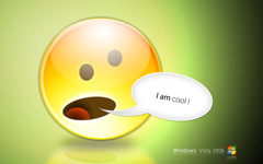 High-resolution desktop wallpaper Cool Emoticon by dupereira@partyon.cc
