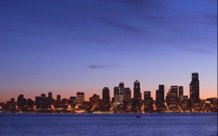 High-resolution desktop wallpaper Seattle At Dawn by coffeelover