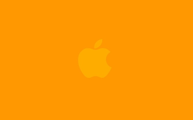 High-resolution desktop wallpaper Orange Apple by Michael Ranger