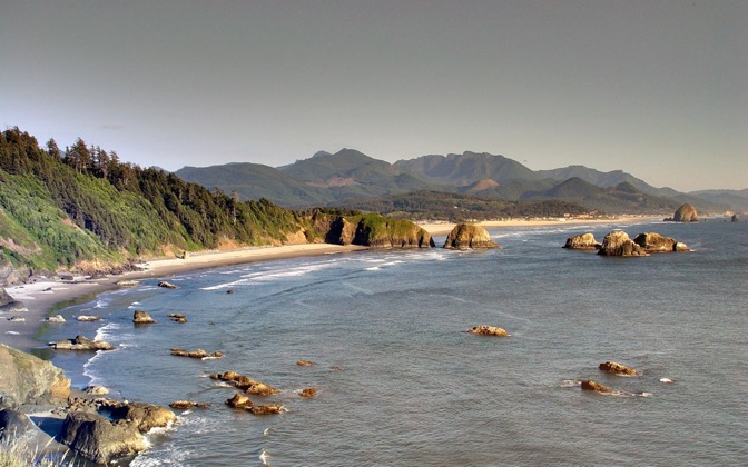 High-resolution desktop wallpaper Cannon Beach by Bin Mei