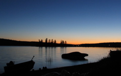 High-resolution desktop wallpaper Lac La Hache Sunset by Fahrvergnugen