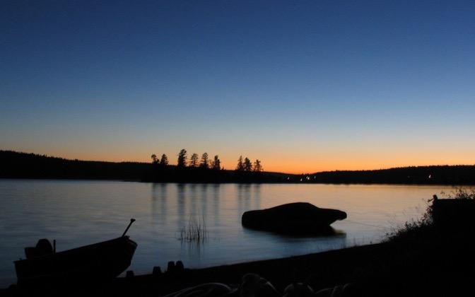 High-resolution desktop wallpaper Lac La Hache Sunset by Fahrvergnugen