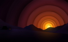 High-resolution desktop wallpaper Simple Sunset by soggyb