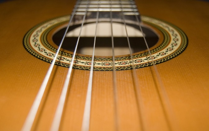 High-resolution desktop wallpaper Six Strings by renalief