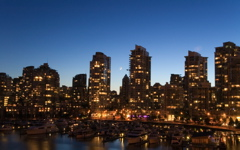 High-resolution desktop wallpaper Downtown Vancouver Twilight by G23