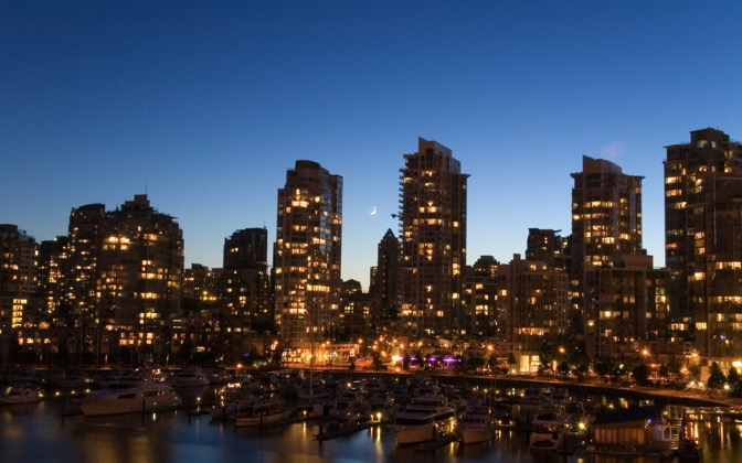 High-resolution desktop wallpaper Downtown Vancouver Twilight by graham.fleming@gmail.com