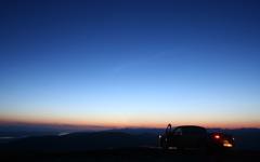 High-resolution desktop wallpaper Drive-in Sunset by Grant Erb