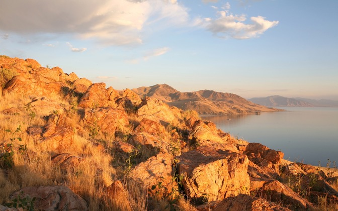 High-resolution desktop wallpaper Antelope Island at Sunset by Jayson Ross