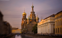 High-resolution desktop wallpaper St. Petersburg at Sunset by Steven Miller