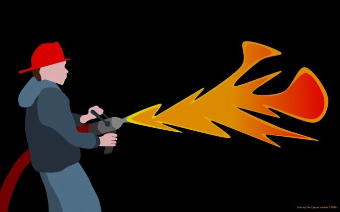 High-resolution desktop wallpaper Fuel My Fire by J.C. Nortier