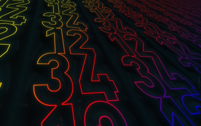 High-resolution desktop wallpaper IPG Numbers Light by Macc