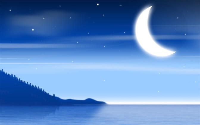 High-resolution desktop wallpaper Magic Moon by Bombia Design