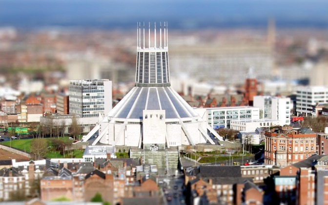 High-resolution desktop wallpaper Liverpool Metropolitan Cathedral by zeroeseight