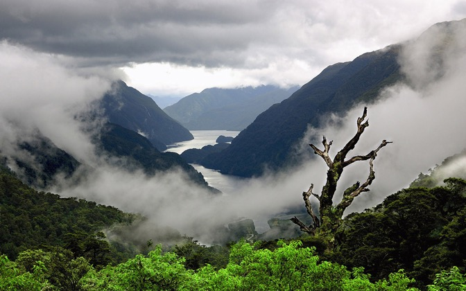 High-resolution desktop wallpaper Doubtful Sound, New Zealand by SkyHigh