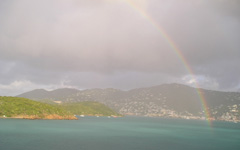 High-resolution desktop wallpaper Rainbow over St. Thomas by basenjimom