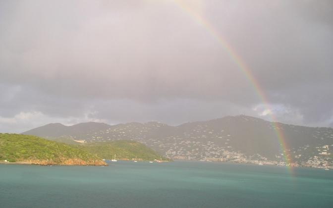 High-resolution desktop wallpaper Rainbow over St. Thomas by basenjimom