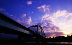 High-resolution desktop wallpaper MacArthur No.1 Bridge (Taipei) by BraveRoy