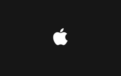 High-resolution desktop wallpaper Apple Logo (black) by ralphibus