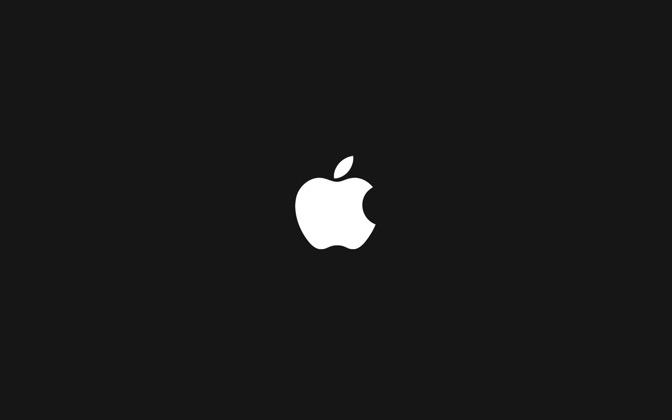 High-resolution desktop wallpaper Apple Logo (black) by ralphibus