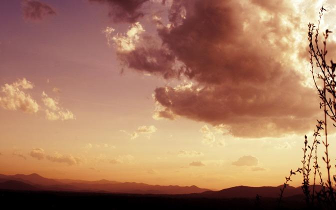 High-resolution desktop wallpaper Sunset Mountain by matt mosher
