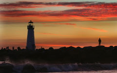 High-resolution desktop wallpaper Santa Cruz Lighthouse by Lyle Krannichfeld