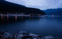 High-resolution desktop wallpaper Deep Cove at Dusk by tch