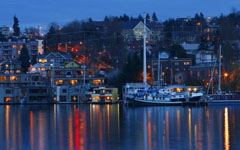 High-resolution desktop wallpaper Lake Union by Lyle Krannichfeld