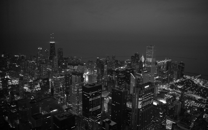 High-resolution desktop wallpaper Chicago at Night by pikkashoe
