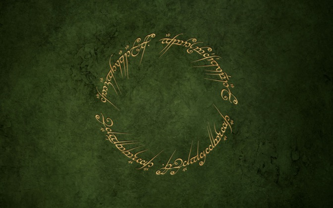 High-resolution desktop wallpaper One Ring by Louie Mantia