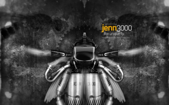 High-resolution desktop wallpaper Jenn, the Fly. by Vysionous