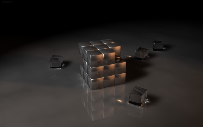High-resolution desktop wallpaper Rubik by Rob Randtoul