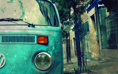 High-resolution desktop wallpaper Old Dusty VW Right From The 70's by Siebe