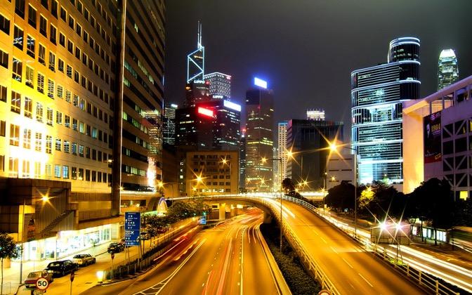 High-resolution desktop wallpaper Wanchai, Hong Kong by Richteralan
