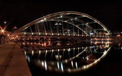 High-resolution desktop wallpaper Late Night Bridge by rczeien