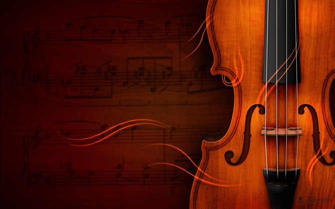 High-resolution desktop wallpaper Violin by vladstudio