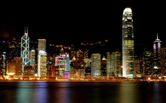 High-resolution desktop wallpaper Hong Kong - Victoria Harbour by raymondso