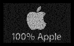 High-resolution desktop wallpaper Fototexto Apple Logo by Mercatecnia.com