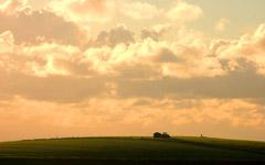 High-resolution desktop wallpaper Working Under A Golden Sky by T.Woods