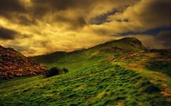 High-resolution desktop wallpaper Sunset in Edinburgh by Andrzej Ustarbowski