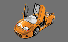 High-resolution desktop wallpaper Bugatti EB 110 by iceman07
