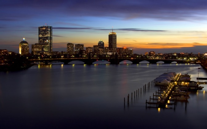 High-resolution desktop wallpaper Sunset on the Charles by Ron Phillips