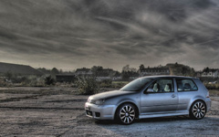 High-resolution desktop wallpaper VW Golf IV R32 by exeswiss