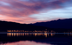High-resolution desktop wallpaper Utah Lake at Dusk by Pilcrow