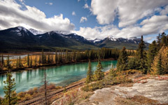 High-resolution desktop wallpaper Banff National Park: Canadian Pacific Railway by mole2k