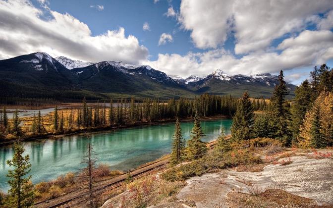 High-resolution desktop wallpaper Banff National Park: Canadian Pacific Railway by mole2k