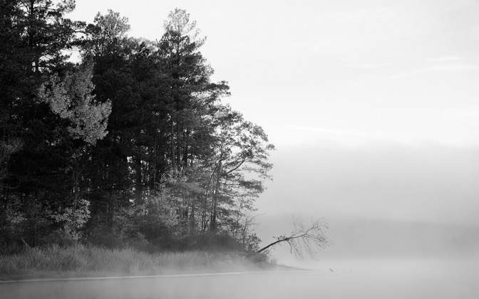 High-resolution desktop wallpaper Harris Lake B&W by TheFozz