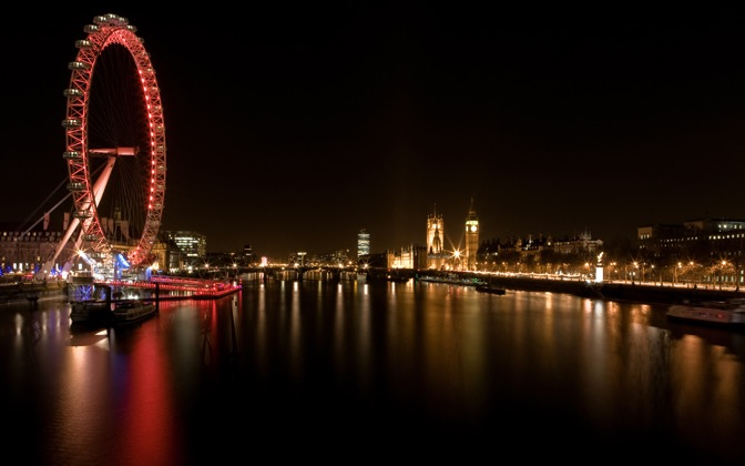 High-resolution desktop wallpaper London Eye by element059