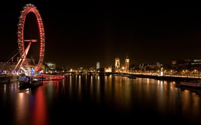 High-resolution desktop wallpaper London Eye by element059