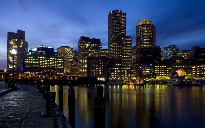 High-resolution desktop wallpaper Along the Harbor by Ron Phillips