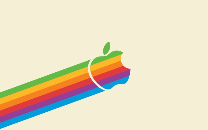 High-resolution desktop wallpaper Flying Apple by iMacthere4iAm